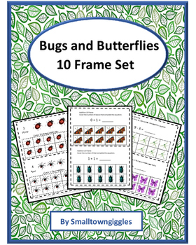 Bugs And Butterflies 10 Frames Counting Addition, Subtraction