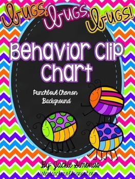 Bugs, Bugs, Bugs! Behavior Clip Chart **Punch Bowl Chevron