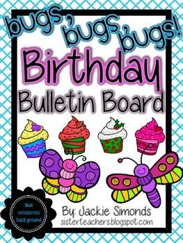Bugs, Bugs, Bugs! Birthday Bulletin Board Pack *Blue Criss