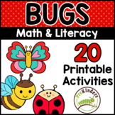 Bugs Insects Printable Math & Literacy Activities Pre-K, P