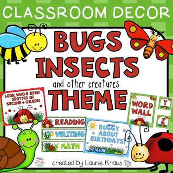 Bugs Insects Themed Classroom Decor