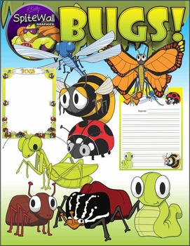 Bugs, Insects, Variety Pack clip art for Insect Resource A