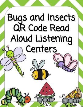 Bugs QR Code Read Aloud Listening Centers