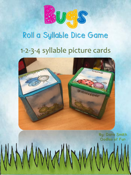 Bugs Roll a Dice Syllable Game