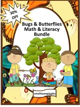 Bugs and Butterflies Math and Literacy Centers NO PREP/LOW