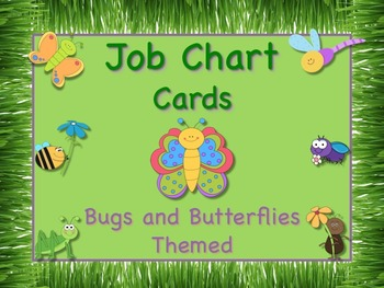 Bugs and Butterflies Theme Job Chart Cards - Great for Cla
