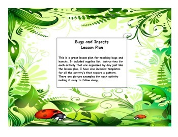 Bugs and Insects lesson plan