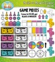 Build A Board Game Clipart Set 2 — Over 80 Colorful Graphics