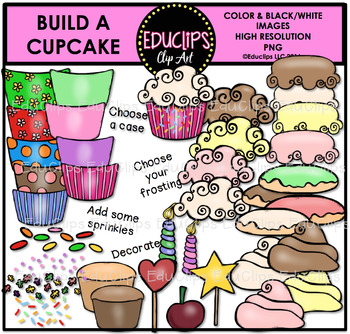 Build A Cupcake Clip Art Bundle
