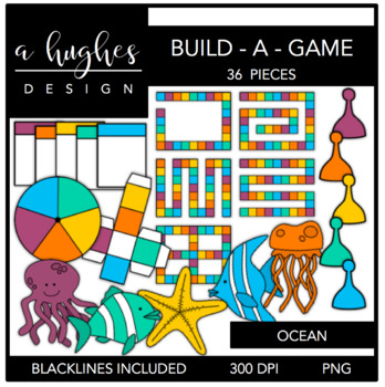 Build-A-Game Ocean {Graphics for Commercial Use}