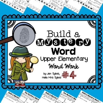 Build A Mystery Word, Set 4 ~ Upper Elementary Interactive