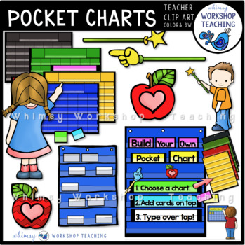 Build A Pocket Chart Clip Art - Whimsy Workshop Teaching
