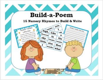 Build-A-Poem {15 Nursery Rhymes to Build & Write} Kinderga