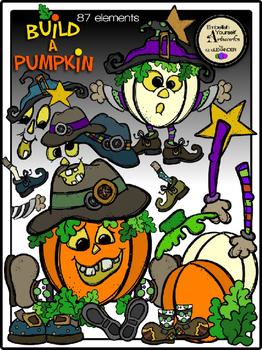 Build A Pumpkin Clip Art Kit (Bargain Priced)