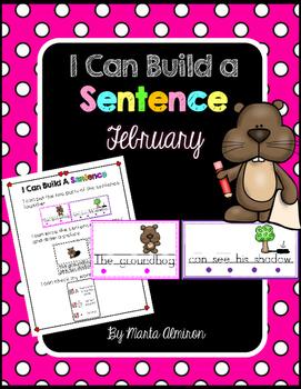 Build A Sentence for Beginner Writers - FEBRUARY