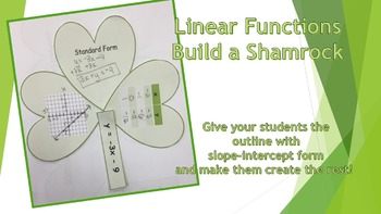 Build A Shamrock: Linear Functions