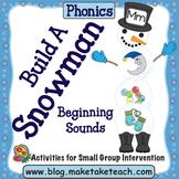 Alphabet - Build a Snowman