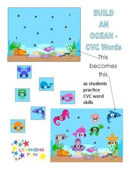 Build An Ocean - CVC Word Building