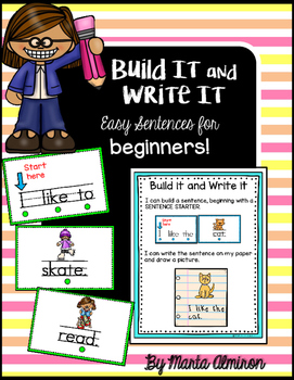 Build It And Write It - Easy Sentences For Beginners