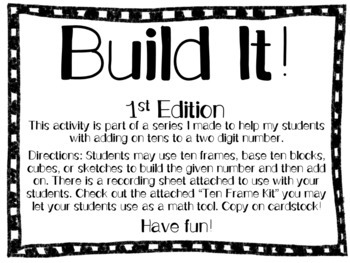 Build It! Place Value Activity/Adding on Tens