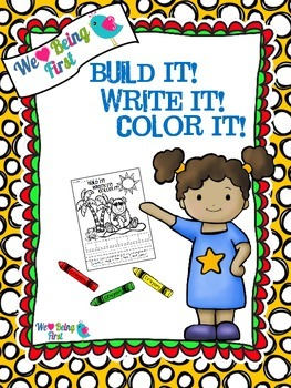 Build It! Write It! Color It! :  Back to School~ Word Work