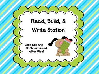 Build, Read, & Write ~ Primary Reading Station