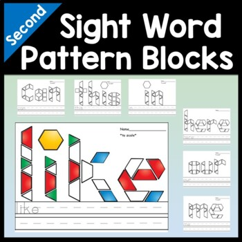 Pattern Block Mats with Sight Words {46 words!}