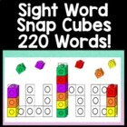 Sight Word Practice with Snap Cubes | Sight Word Activities {220 Words!}