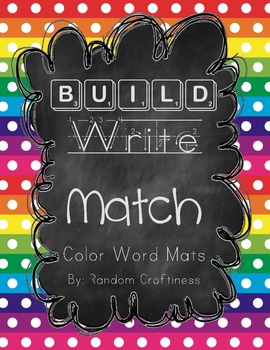 Build, Write, and Match Color Word Mats
