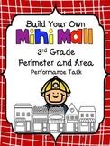 Build Your Own Mini-Mall-Perimeter and Area Task-3rd Grade