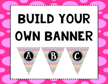 Build Your Own Pendant Banner: Chevron