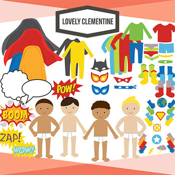 Build Your Own Superhero Boy Clip Art, superhero clip art