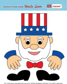 Build Your Own Uncle Sam Clip Art