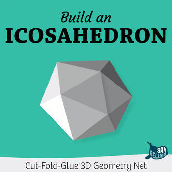 Build a 3D icosahedron – foldable geometry shape net