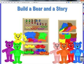Build a Bear and a Story Writing Center Flipchart Common C