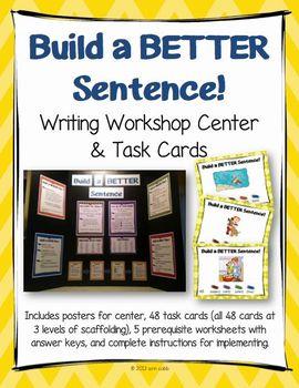 Build a Better Sentence! Writing Workshop CENTER, Task Car