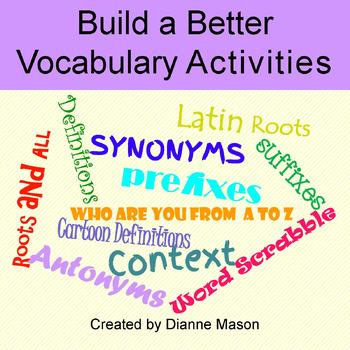 Build a Better Vocabulary Activities
