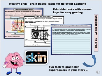Build a Brain Based Lesson - Skin Health and the Environment