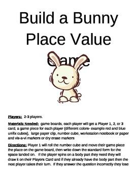 Build a Bunny Place Value Game