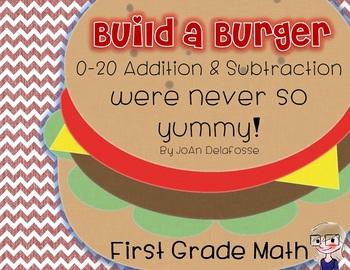 Build a Burger Addition & Subtraction for Kinder, 1st Grad