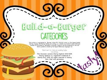 Build-a-Burger Categories FREEBIE