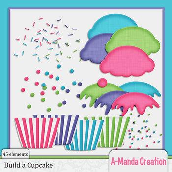 Build a Cupcake Clip Art