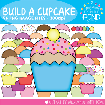 Build a Cupcake - Clipart for Teachers and Classrooms