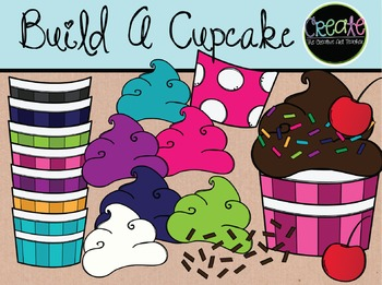 Build a Cupcake - Digital Clipart