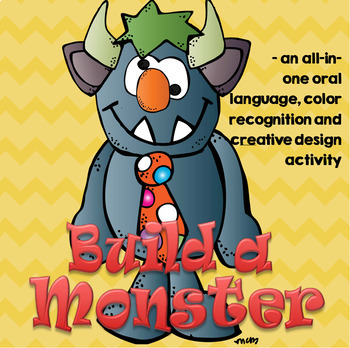 Build a Monster - Language, Color Recognition and Creative