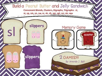 Build a Peanut Butter & Jelly Sandwich Game; Consonant Clu