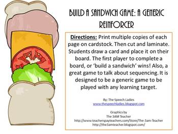 Build a Sandwich: A Generic Game