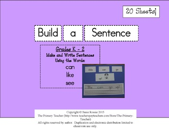 Build a Sentence - Can, Like, See