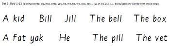 Build-a-Sentence reading manipulative, Set 3