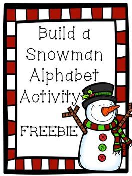 Build a Snowman ABC Activity